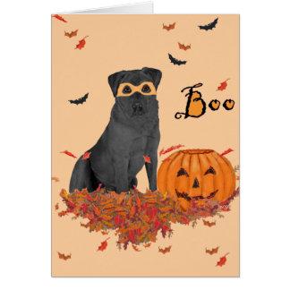 Carte Labrador retriever noir huent !