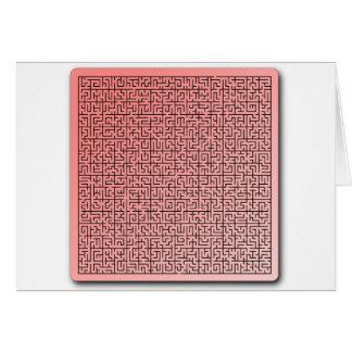 Carte Labyrinthe rouge