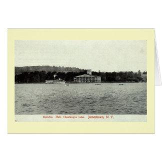 Carte Lac Chautauqua, cru 1909 de Jamestown NY