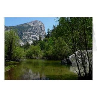 Carte Lac I mirror en parc national de Yosemite