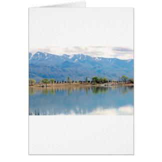 Carte Lac mirror de montagne