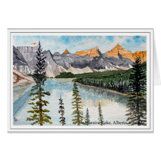 Carte Lac moraine, Alberta, Canada
