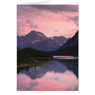Carte Lac Swiftcurrent, parc national de glacier,