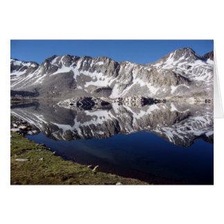 Carte Lac Wanda, hautes sierras, la Californie