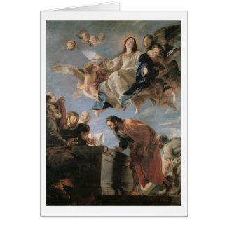 Carte L'acceptation de la Vierge, 1673 (huile sur la