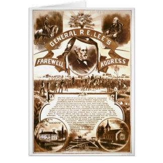 Carte L'adresse d'adieu 1865 de Lee