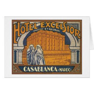 Carte Laine de bois Casablanca d'hôtel