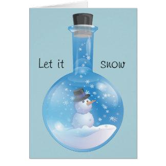 Carte Laissez lui neiger