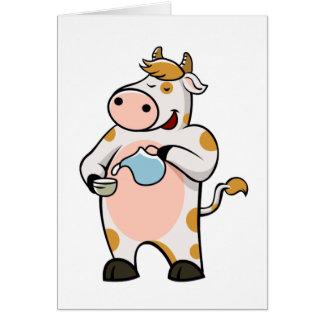 Carte lait boisson de vache