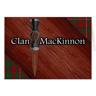 Carte Lame de Sgian Dubh de tartan de MacKinnon de clan