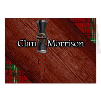 Carte Lame de Sgian Dubh de tartan de Morrison de clan