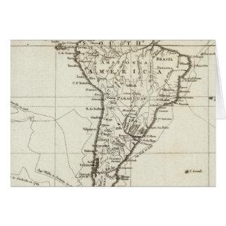 Carte L'Amérique du Sud et les îles adjacentes