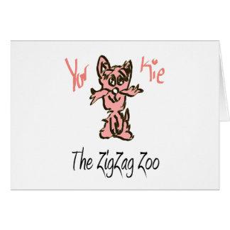 Carte L'ami de zoo de zigzag - YorKie