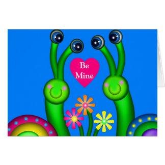 Carte L'amour d'escargot, soit le mien