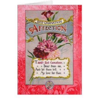 Carte Langue d'affection d'oeillet de fleurs