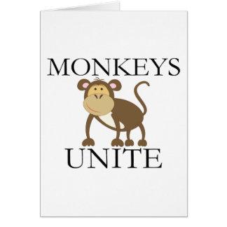 """Carte L'année drôle du singe """"singes unissent """""""