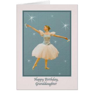 Carte L'anniversaire de la petite-fille, danseur