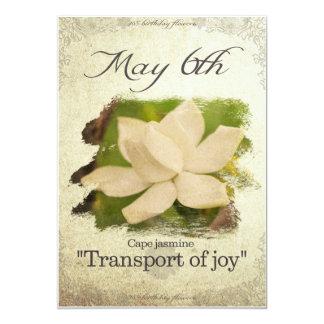 """Carte L'anniversaire fleurit le 6 mai le """"jasmin de cap"""