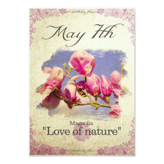 "Carte L'anniversaire fleurit le 7 mai la ""magnolia """