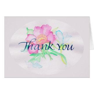 Carte L'aquarelle en pastel fleurit le mini bouquet