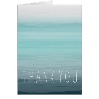 Carte L'aquarelle turquoise a inspiré le Merci d'Ombre