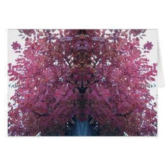 Carte L'arbre rouge d'automne laisse le miroir de la