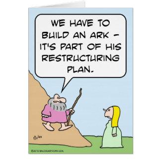 Carte L'arche de Noé est pour le plan de restructuration