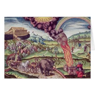 Carte L'arche de Noé, illustration 'de Narratio brevis