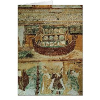 Carte L'arche de Noé pendant l'inondation, c.1100