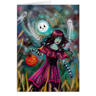 Carte L'art gothique de sourire de Halloween