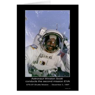 Carte L'astronaute Scott conduit la deuxième mission EVA