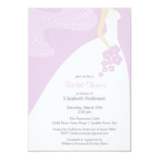 Carte Laveder nuptiale d'invitation de douche de jeune