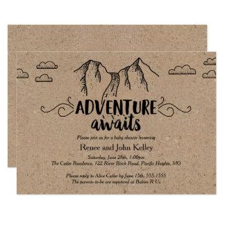 Carte L'aventure attend l'invitation Papier d'emballage