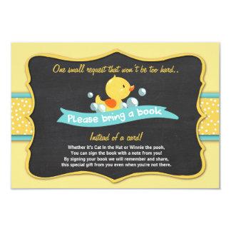 Carte Le baby shower de caneton apportent un jaune de