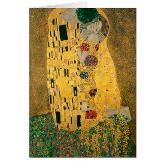 Carte Le baiser - Gustav Klimt