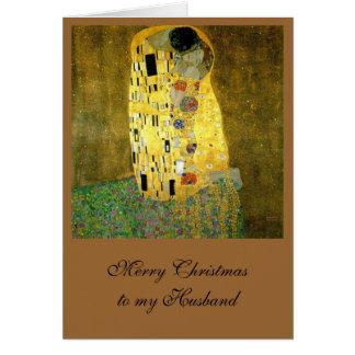 Carte Le baiser par Gustav Klimt