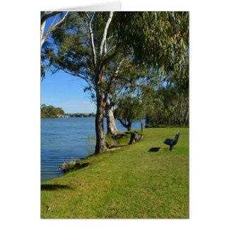 Carte Le banc de parc, Berri, Australie du sud,
