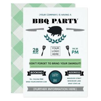 Carte Le barbecue d'entreprise ajoutent l'invitation de