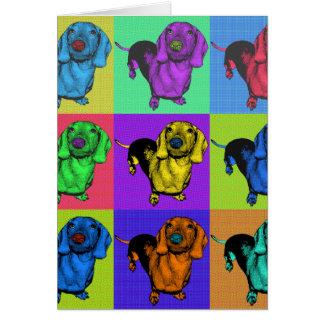 Carte Le basset allemand Doxie d'art de bruit lambrisse