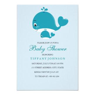 Carte Le bébé de baleine de bébé de maman et de Bub