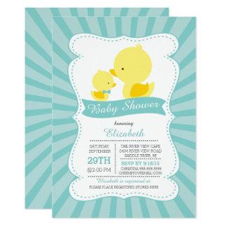 Carte Le bébé mignon de maman penche le baby shower