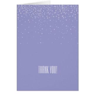 Carte Le blanc rêveur lilas miroite Merci