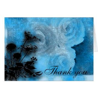 Carte le bleu floral vous remercient