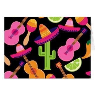 Carte Le cactus de sombrero de partie de fiesta chaule
