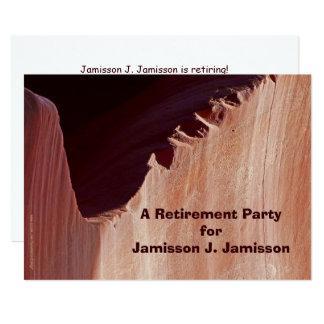 Carte Le canyon d'invitation de partie de retraite