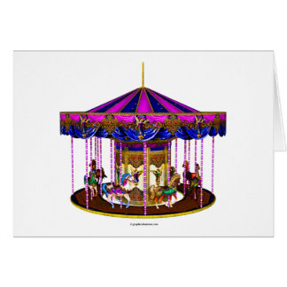 Carte Le carrousel rose