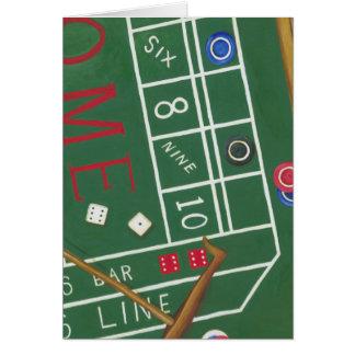 Carte Le casino chie le Tableau avec des puces et des