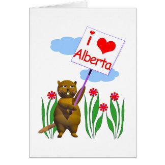 Carte Le castor canadien aime Alberta