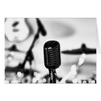 Carte Le chanteur de chanteur d'avance de microphone