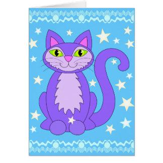 Carte Le chat cosmique de bande dessinée de conception